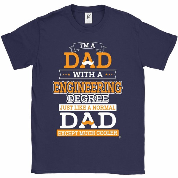 d56466dc3a45 I'm A Dad With Engineering Degree Cooler Than Normal Fathers Day Mens T-Shirt  Gift Print T-shirt,Hip Hop Tee Shirt,NEW ARRIVAL tees