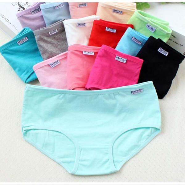 top popular 1000Pcs Women Panties Lady Cotton Underwear Girls Breathable Seamless Mid Waist Briefs Women Cute Sexy Lingerie Intimates 2020