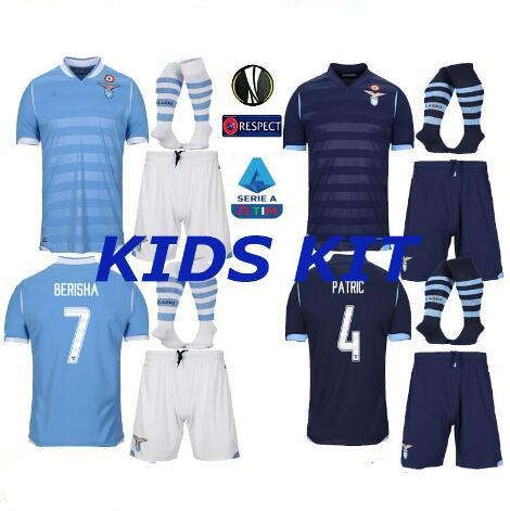 Lazio KID kit 19 20 THAILAND Soccer Jersey #17 IMMOBILE #21 SERGEJ #19 LULIC #10 LUIS ALBERTO 2019 2020 Football Shirt