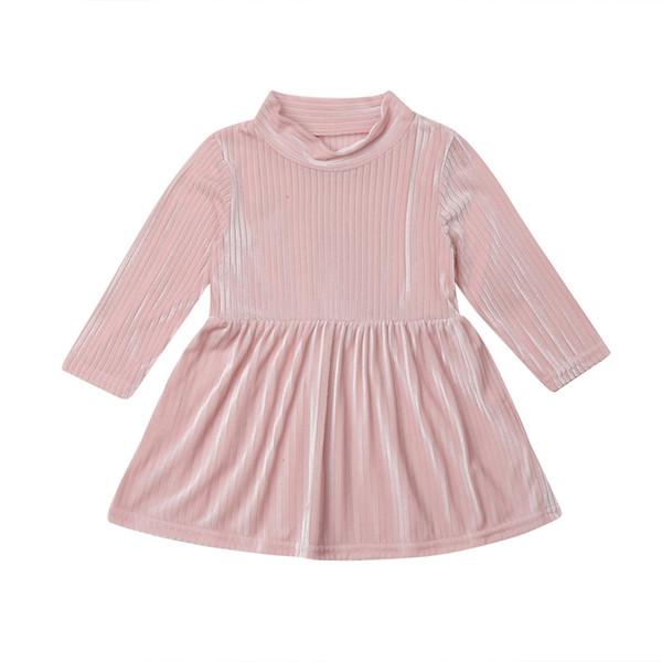 Birthday Party Dresses bebê meninas encantadoras Sólidos Party Dress crianças manga comprida vestido Tutu