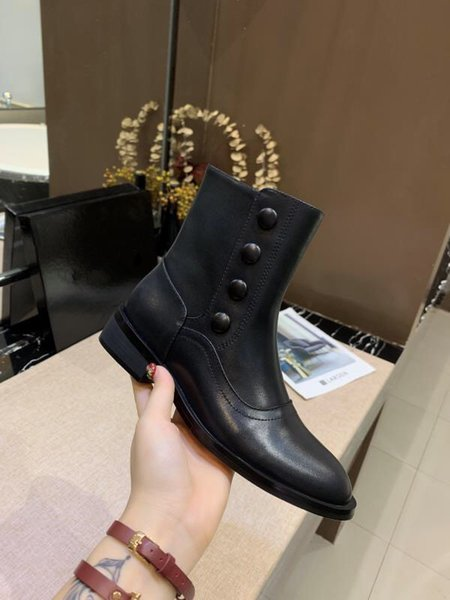 Women winter Martin boots Designer Classic lattice original Luxury famous zipper ins hot Fashion Brand sexy stitching warm ladies mh190718