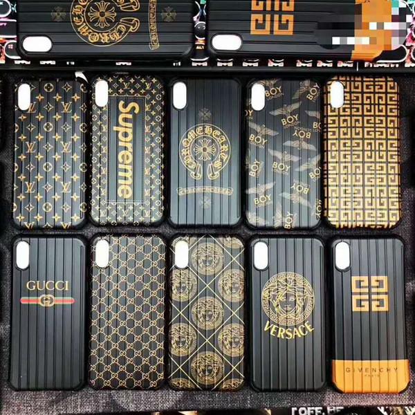Neuer Entwurfs-Luxustelefon-Kasten für Iphone 6 / 6s, 6p / 6sp, 7/8 7p / 8p X / XS, XR, XSMax Entwerfer-Kasten mit 4 Ecken-Schutz für IPhone Großverkauf