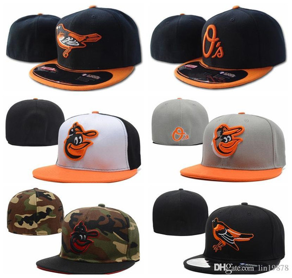 top popular wholesale 2019 hot brand Orioles Baseball caps gorras bones Casual Outdoor sports for men women Fitted Hats 2021