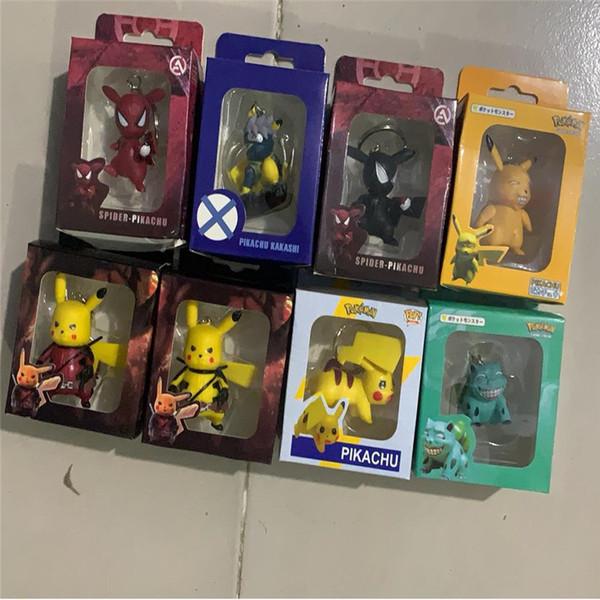 2019 POP Moda Jóias Brinquedos Chaveiro Marvel Capitão Pikachu Chaveiro Crianças Maravilha Mulheres Saco Chave Da Cadeia Pingente de Jóias