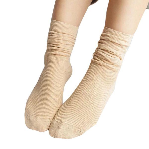 MUQGEW 2019 Fashion Girls Womens Soft socks for girls cotton College Wind knitting Socks Casual Cotton Middle Tube Socks#y4
