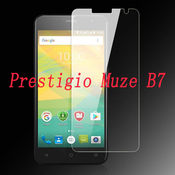 2PCS Tempered Glass 9H Explosion-proof Protective Film Screen Protector mobile phone for Prestigio Muze B7 PSP7511 DUO