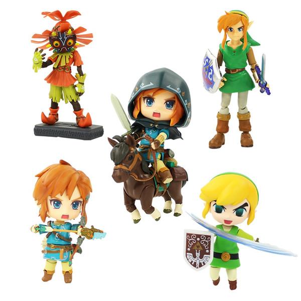 The Legend of Zelda Figure Toy Figma 284 Link Nendoroid 413 733-DX 733 Majoras Mask 3D Skull Kid Figurine Zelda Model Dolls