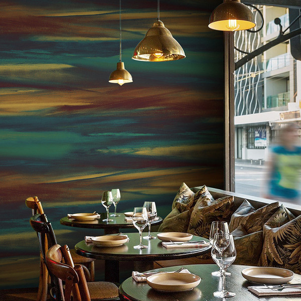 PVC Wallpaper 3D Retro Cement Grey Restaurant Cafe Wall Paper Living Room Waterproof Plain Color Vintage Papel De Parede Decor