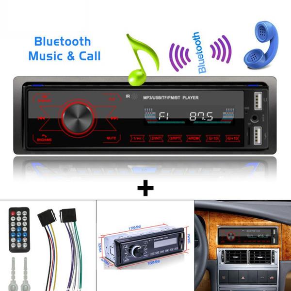 Accessori auto Autoradio 1 DIN Bluetooth Car Audio stereo MP3 Player 7 colori Light Touch Keys Supporto SD / FM / AUX USB