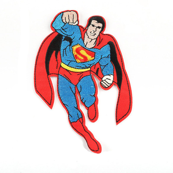 Superman Super Hero Logo Embroidery Patches Sew Iron On Applique Repair DIY Badge Patch For Kids Clothes Jacket Bag Garment
