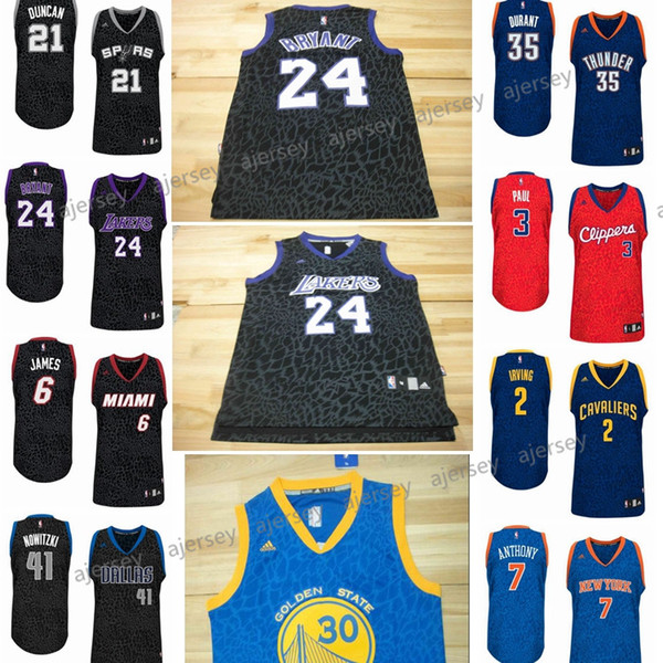 on sale 7b46f 3c4ad 2019 Swingman Men Basketball Jersey #3 Chris Paul 24 Kobe Bryant 2 Kyrie  Irving 7 Anthony 30 Curry 35 Kevin Durant 41 Dirk Nowitzki 21 Tim Duncan  From ...