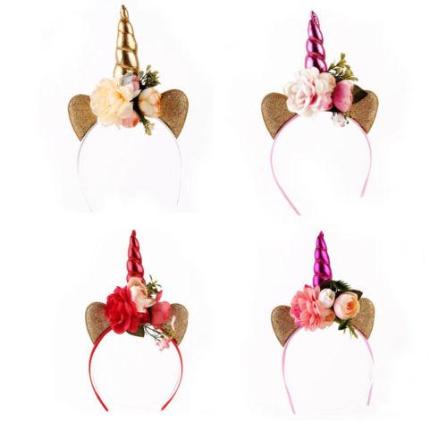 Magical Unicorn Horn Hair Party Kids Head Headband Fancy Dress Party Gift New