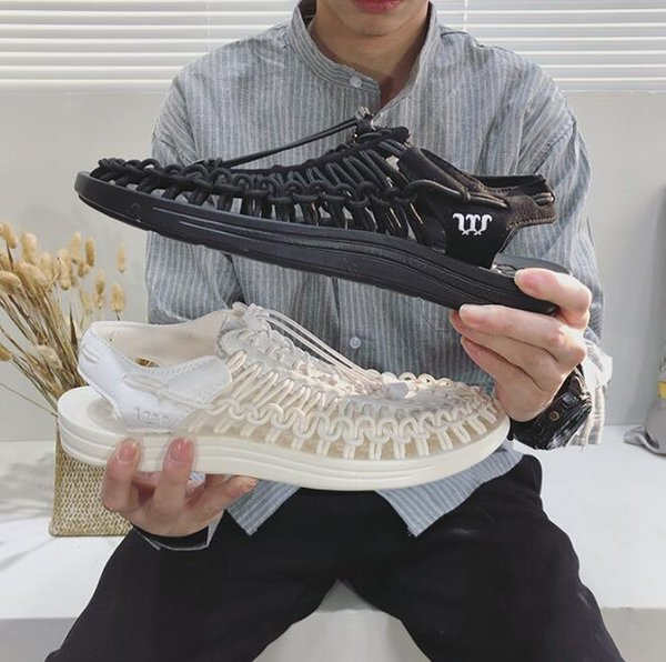 Sandali moda uomo e donna della nuova estate 2019 sandali moda di fascia alta e sandali casual personalizzati intrecciati