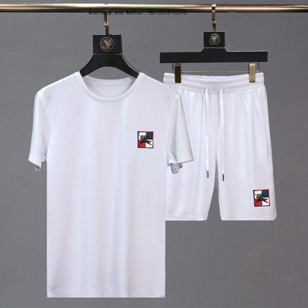 Летние новые мужские шорты повседневный спортивный костюм спортивный костюм бег трусцой мужские комплекты брюки мужская толстовка бренд одежды топ