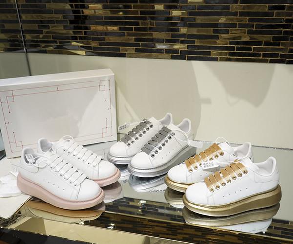 2019 Lüks Tasarımcı Erkekler Günlük Ayakkabılar Ucuz En Kaliteli Womens Moda Sneakers Kadın Erkek eğitmenler Beyaz Deri xj19090104