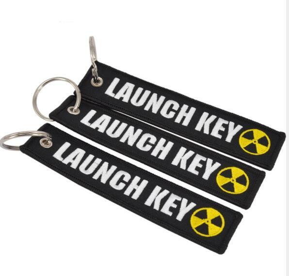 DHL Fashion Launch Key Chain Bijoux Keychain for Motorcycles and Cars Scooters Tag Embroidery Key chain for men