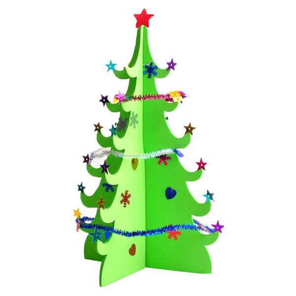 NEW 3D Sequins Christmas Tree Table Decoration Merry Christmas Xmas Blessing For New Year Gift Wholesale