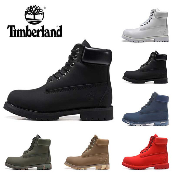 New Timberland boots designer luxury boots mens winter boots top quality womens Military Triple White Black Camo size 36-45 free shipping