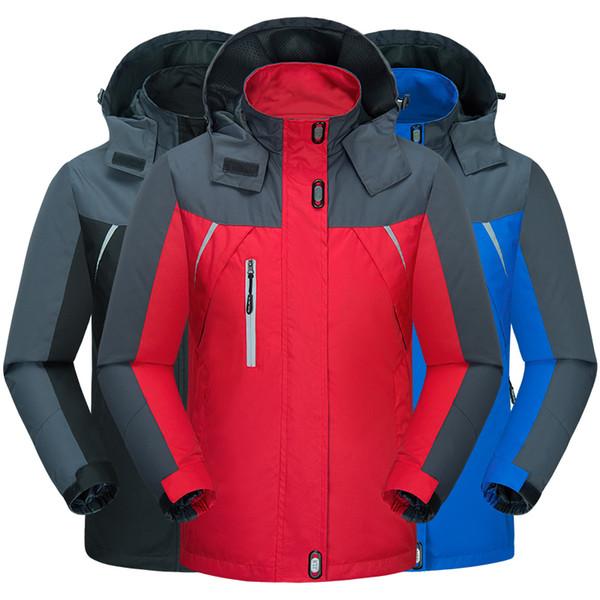 Plus La Taille 6XL Hiver Randonnée Veste Hommes Sports De Plein Air Manteau Camping Trekking Coupe-Vent Imperméable Ski Vestes Épaissir Hommes Femmes
