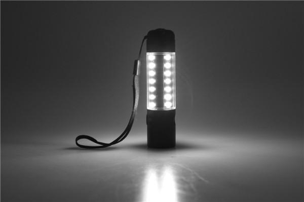 Frontera Nuevo patrón T6 + mazorca Lámpara de trabajo Carga USB Lámpara de emergencia Lámpara de precaución Lámpara T6 Linterna de luz