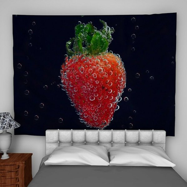 Erdbeerfrucht-Wandbehang-Tapisserie-psychedelische Schlafzimmer-Inneneinrichtung