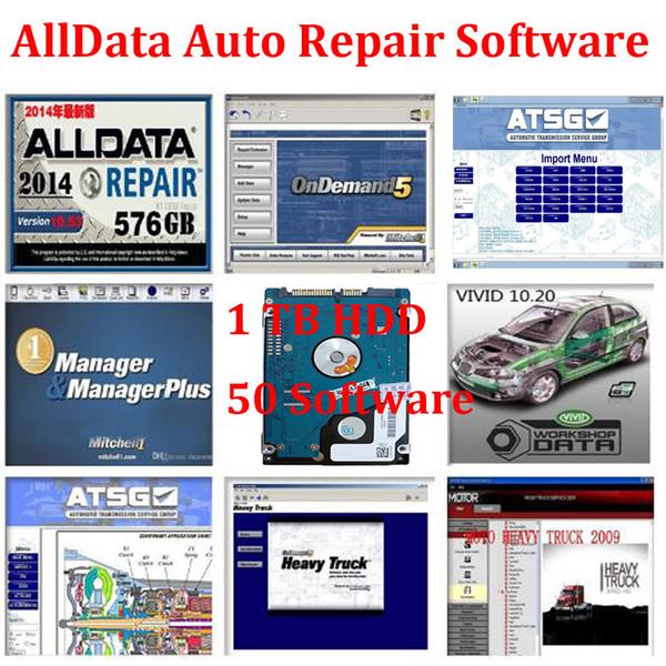 Software di riparazione auto Alldata V10.53 1TB 50 Software Alldata e mitchell 2015 Heavy Truck ect Vi-vid Workshop