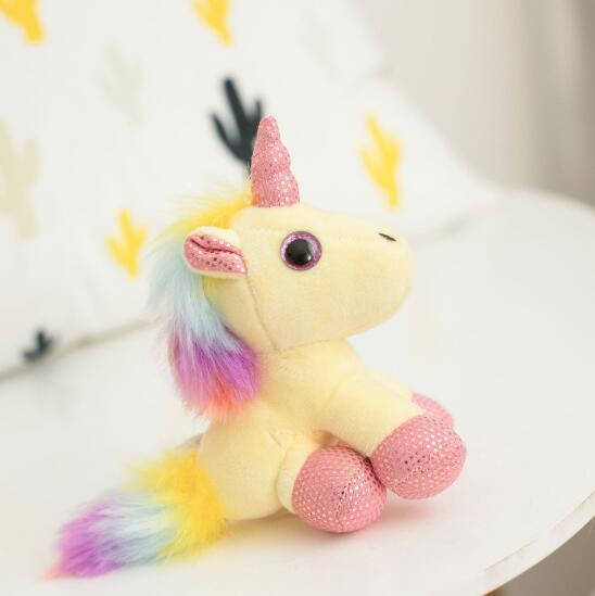 Unicorn Plush Doll Animals Stuffed Toys Pendant For Keychain Phone Handbag Christmas Bag Pendant Cartoon Keychains