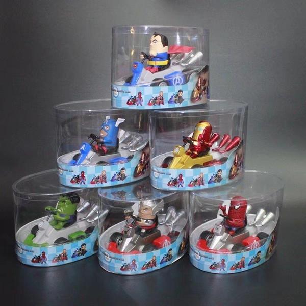 The Avengers Figure Kids Toys Iron Man Thor Hulk Captain America Spider Man Kart Pull Back Cars Friction Powered