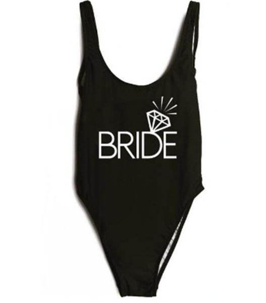 0e6daef63dd Bride Gold Print 2018 Women One Piece Swimsuit High Cut Swimwear Bathing  Suit Black Monokini Bodysuit
