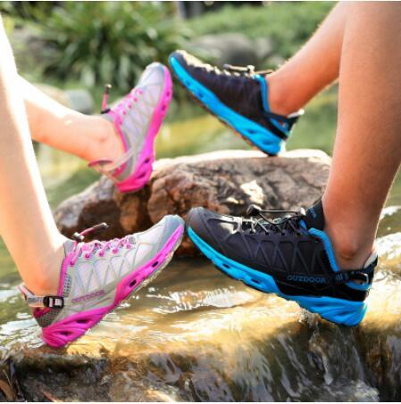 Erkekler Ayakkabı Yürüyüş Kadınlar Yürüyüş Açık Spor Ayakkabı Kaymaz Taktik Tırmanma Ayakkabı Water Upstream Bayanlar Sneakers Hızlı Kurutma