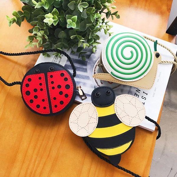 Kinder Cartoon Nette Umhängetasche Biene Tier Schulter Prinzessin Kid Kleine Mini Tasche Crossbody Key Münze Süßigkeiten Beutel Aufbewahrungsbeutel