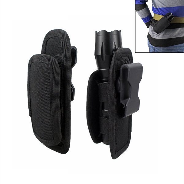 Flashlight Pouch Holster Belt Carry Case Holder with 360 Degrees Rotat Hunting Bag Lighting Accessories #226055
