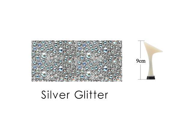 Silver Glitter 9cm