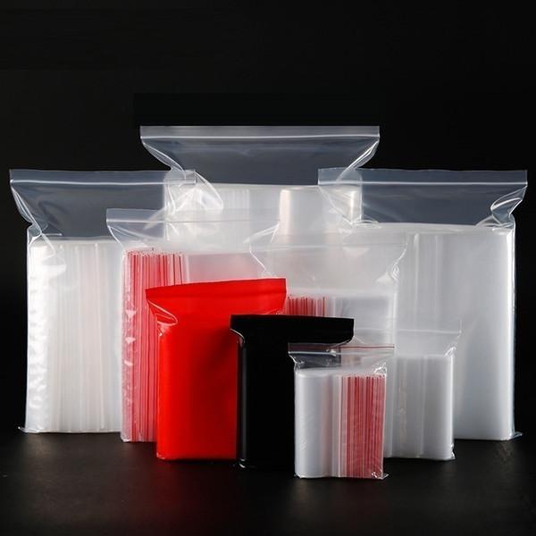 17*25cm Ziplock bag transparent bag PE food sealed bag