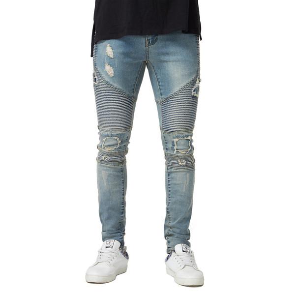 Jeans déchirés de designer pour hommes, jeans cintrés, coupe slim