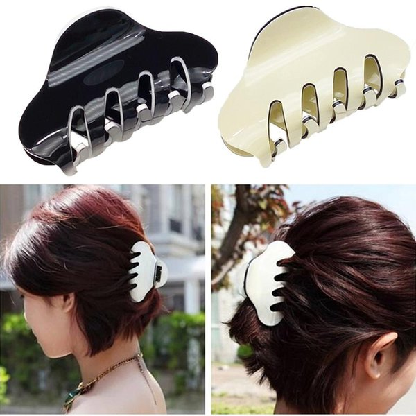 2pcs Colorful Large Plastic Hair Hair Clips Girls Hairpins Crab Jaw Clamp Jewelry