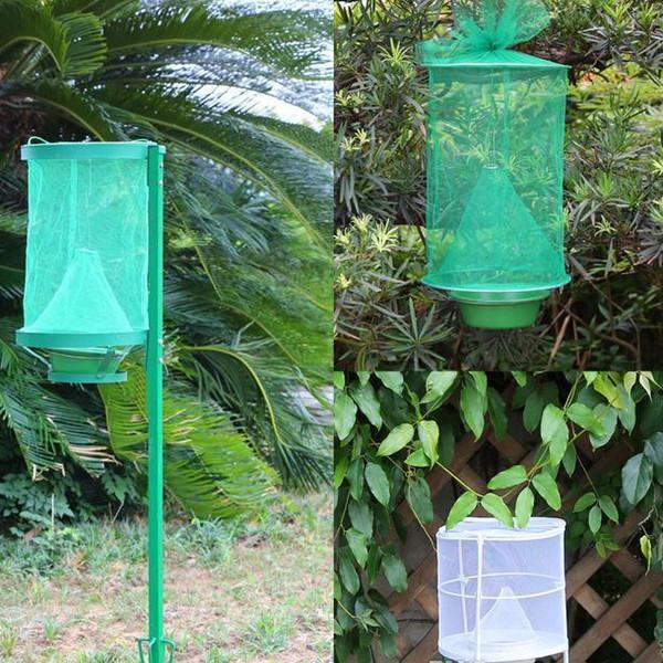 Insectes verts réutilisables Piège à insectes ECO Suspension Fly Catcher Cage Réseau en nylon Outil extérieur de lutte antiparasitaire EEA85