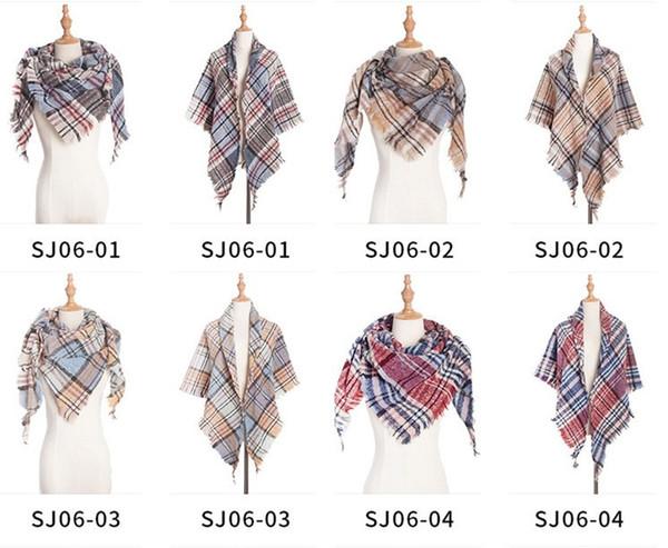 new style cashmere scarf women triangle scarves winter warm Designer for lady shawls and wraps autumn plaid fashion pashmina 10pcs/lot.