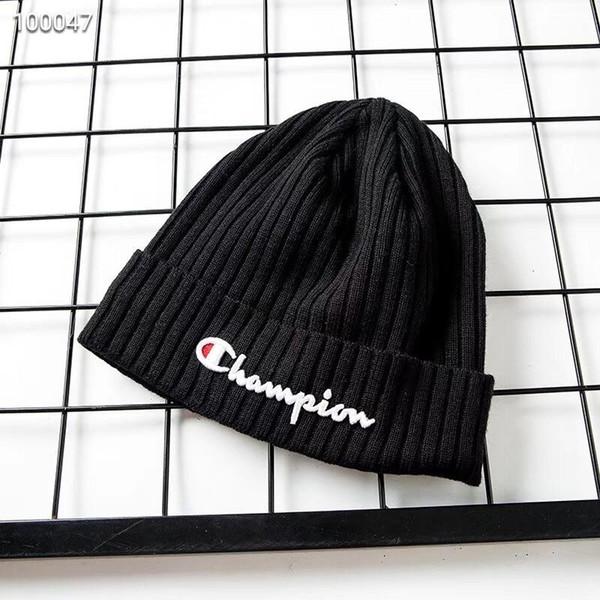 Wholesale high quality Champion beanie Fashion Designer Bonnet man Casual  knitting hip hop Gorros pom- f8076677aa3
