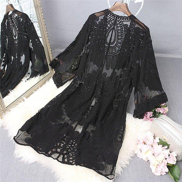 Черный купальный костюм