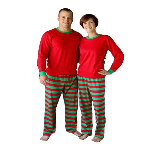 Christmas Pajamas Set Adult Women Men Striped Sleepwear Xmas Deer Nightwear Clothes Matching Family Outfits set