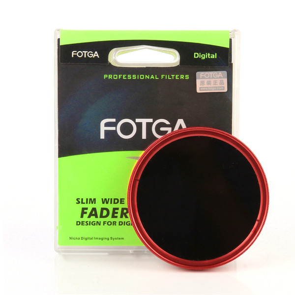 Camera Filters FOTGA Ultra Slim 40.5-82mm Fader Adjustable Variable Lens Filter 2 ND8 ND400 Red