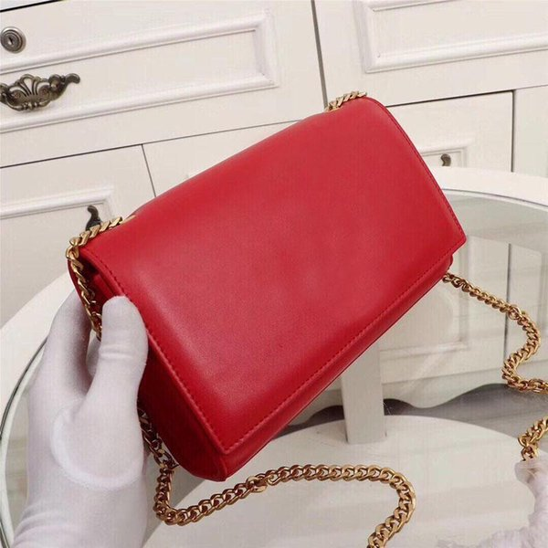 Classic women's wallet designer fashion luxury leather production metal LOGO and accessories natural fresh women's chain bag numbe