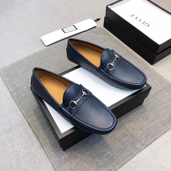 19ss Preto Azul Homens Sapatos de Topo Alto Novo Designer Clássico Sapatos de Casamento Sapatos Casuais Para Homens Impresso Densidade de Borracha Dual Density