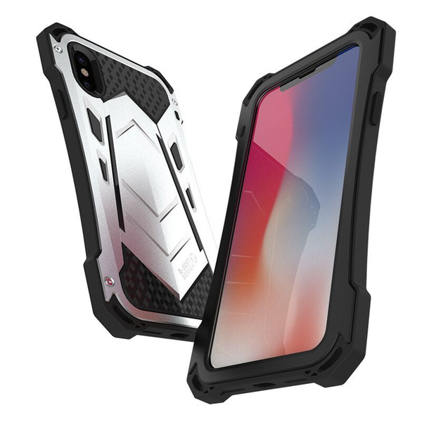 Coque iphoneXR Heavy duty Protective Cover For iphone X Xs Max Metal Case Casing iphoneXs Max Phone Cases Shell i phone XR