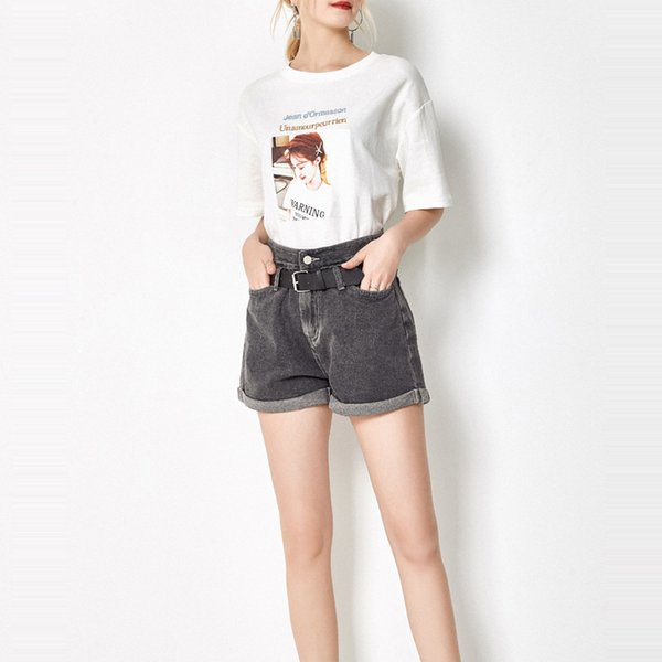 Highwaist Jeans Shorts pour femmes en été 2019