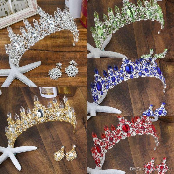 6 Farben Hochzeit Crown Queen Braut Diademe Braut Krone 2019 Stirnband Hochzeit Zubehör Diadem Mariage Haarschmuck Ornamente CPA3166