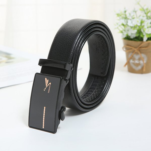 2018 New Casual Fashion Exquisite High-grade Stainless steel material Automatic buckle Business Men's belt