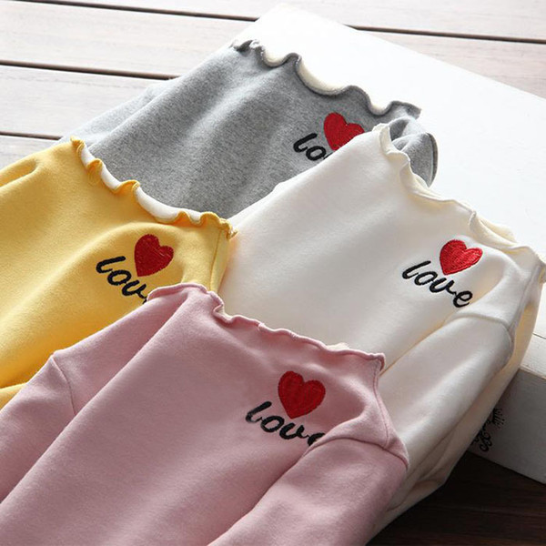 2019 New Winter Item Girl Cute Print Heart T-Shirt Warm And Thick Top baby boy boys toddler kids zipper infant Anna leggings jackets
