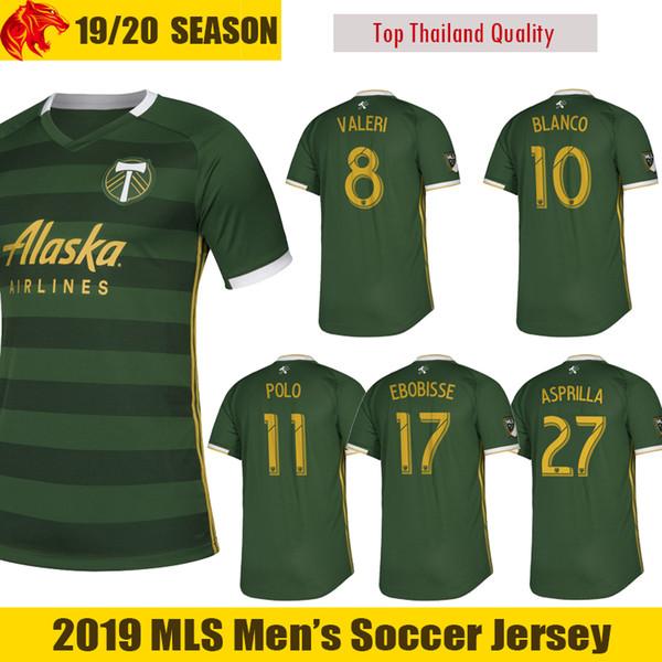2019 2020 Portland Timbers maglia da calcio EBOBISSE 19 20 VALERI maglia da calcio Home Jersey ASPRILLA Portland Timbers BLANCO maglia da calcio